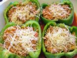 Stuffed Bell Peppers - Reduce sodium by using fresh tomatoes and no sodium tomato sauce.