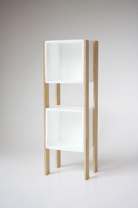 Modern Dollhouse Miniature White \