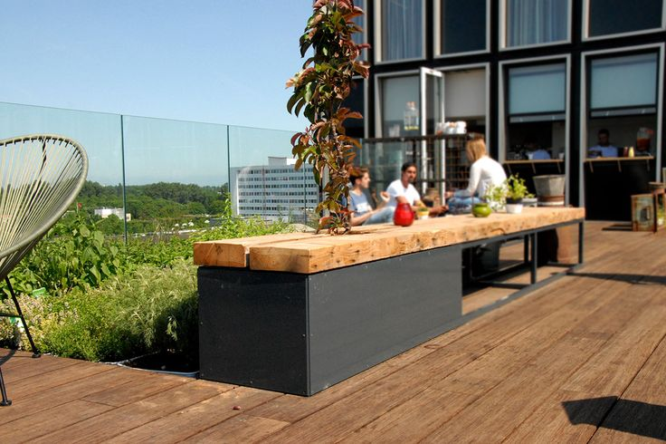 Rooftop park and cafe/restaurant NEST on top of hotel Casa 400 in Amsterdam