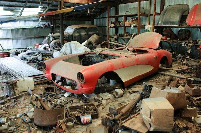 1957 Corvette Really Found in a Barn!