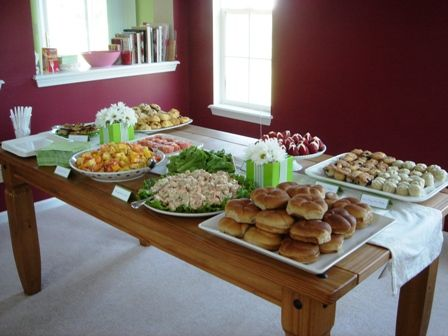 baby shower brunch food ideas - Google Search