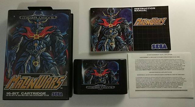 Sega Megadrive: Mazinwars (PAL)  As a fan of Go Nagai's series I was thrilled when I knew a game was going to be released for my fav console.  However at first this blue MZ was a bit strange for me used to the classic one.  Though it does not feature 2P coop play (great mistake!) this is still a game I like a lot. Have finished it a lot of times and music and final bosses' vs mode are things I certainly like.  MajinGo! MajinGo! Majingaaaa Zed!  Tags:  #retrogaming #retrogames #sega…