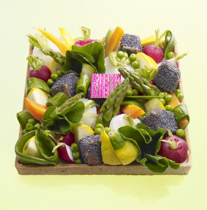 Tarte aux jeunes légumes - Fauchon