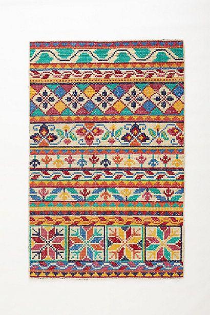 woven fairisle rug. stunning.