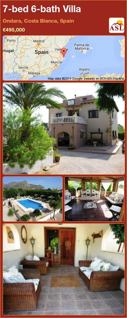 7-bed 6-bath Villa in Ondara, Costa Blanca, Spain ►€495,000 #PropertyForSaleInSpain