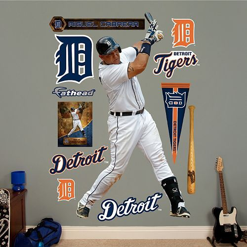 Miguel Cabrera Detroit Tigers wall decorations. 8 best Detroit Tigers Baseball Room images on Pinterest   Boy