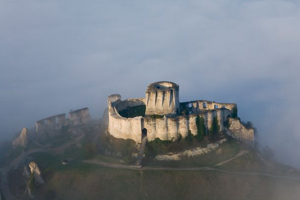 Chateau Gaillard also known as the saucy chateau, built by Richard the Lionheart king of England