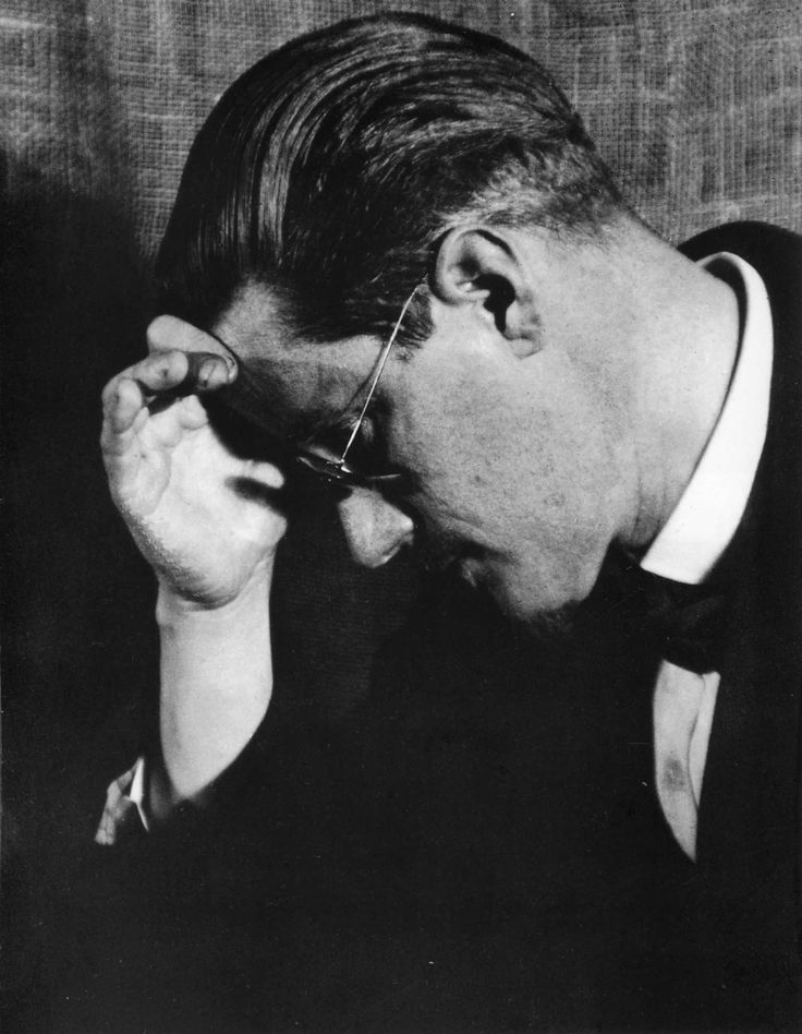 onlyoldphotography:    Man Ray: James Joyce, 1922    Happy birthday, James Joyce!