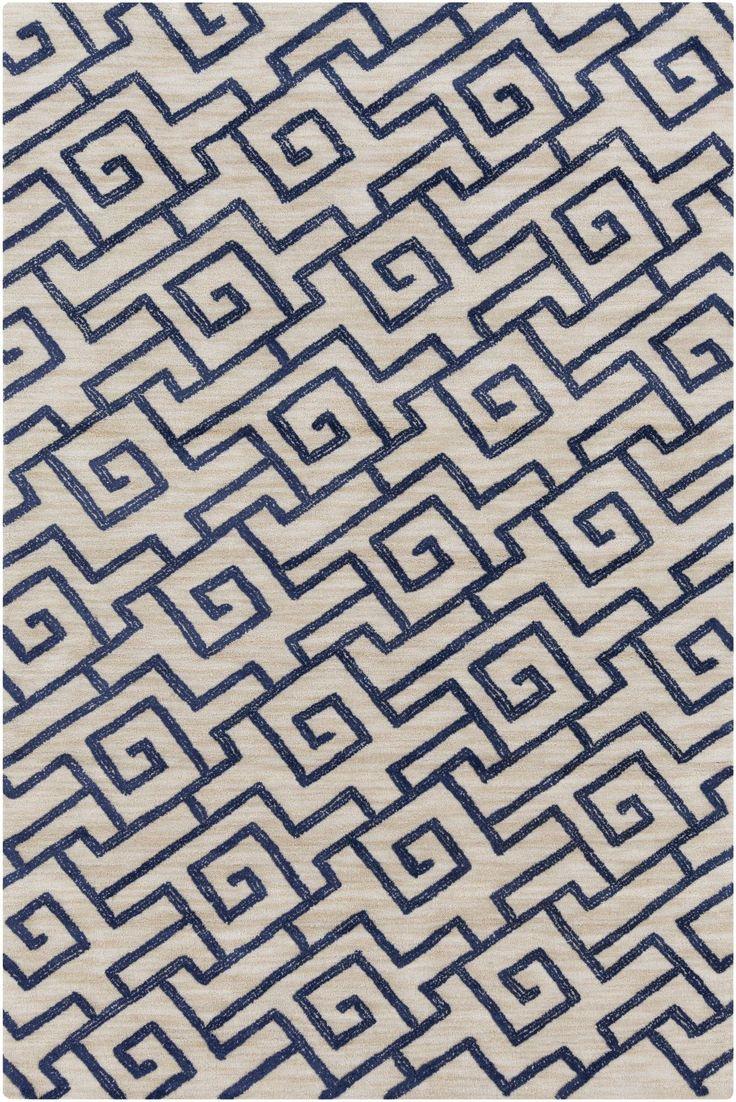 Navy greek key rug transitional entrance foyer libby langdon - Ameila Light Gray Navy Geometric Area Rug Rug Patternsgreek Keycontemporary