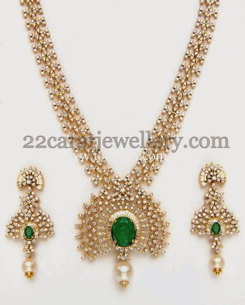 Jewellery Designs: Marvelous Diamond Set for Wedding