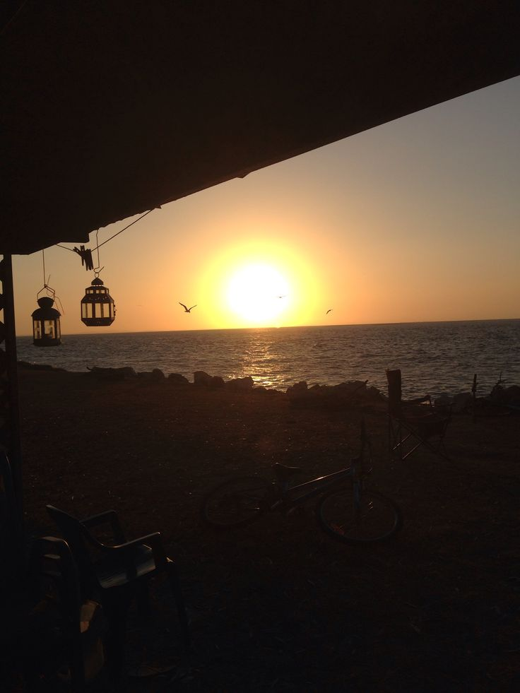 Sunset stradbroke island Australia
