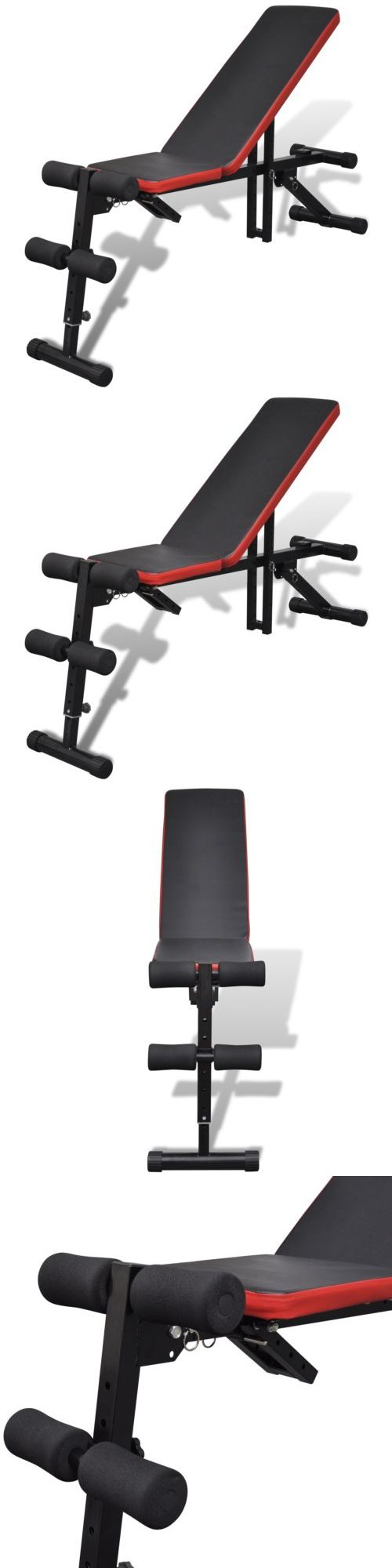 Bench Press Abs Part - 31: Benches 15281: Adjustable Foldable Sit Up Ab Incline Abs Bench Flat Weight  Press Gym Exercise
