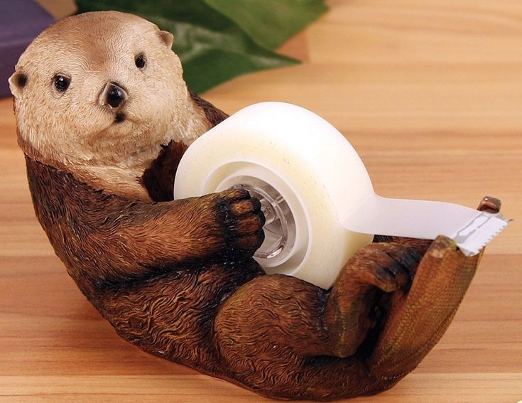 Once you have the Otto The Otter Tape Dispenser on your desk, you're bound to draw some attention from your fellow colleagues.