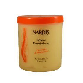 Θρεπτική Μάσκα Μαλλιών NARDIS 1000ml με βαθιά επανορθωτική και αναζωογονητική δράση για μαλλιά ταλαιπωρημένα από τεχνικές εργασίες. Περιέχει βούτυρο karite και πρωτεΐνες μεταξιού και μαλακώνει και προστατεύει την τρίχα δυναμώνοντάς την από την ρίζα. Επαναφέρει τα μαλλιά στην φυσική τους κατάσταση διευκολύνοντας το χτένισμα των μαλλιών.Τιμή €8.50