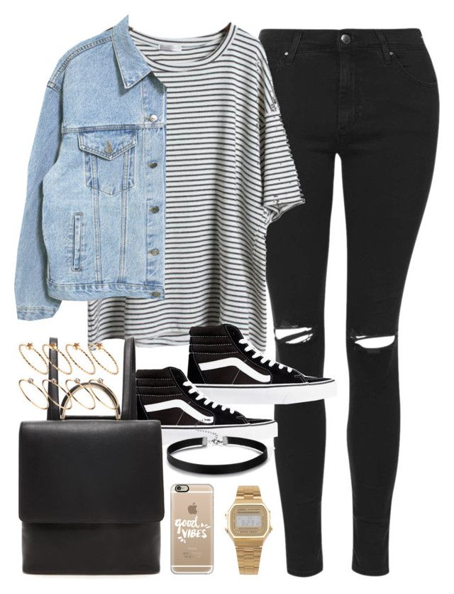 """""""Outfit for autumn with a faux leather backpack"""" by ferned ❤ liked on Polyvore featuring Topshop, Vans, Forever 21, ASOS, Casetify and American Apparel"""