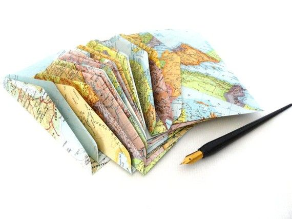 Map envelopes - you can definitely mail these