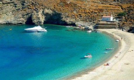 #Achla #beach, #Andros, #Greece | #heliades #villas | http://www.heliadesvillas.com/