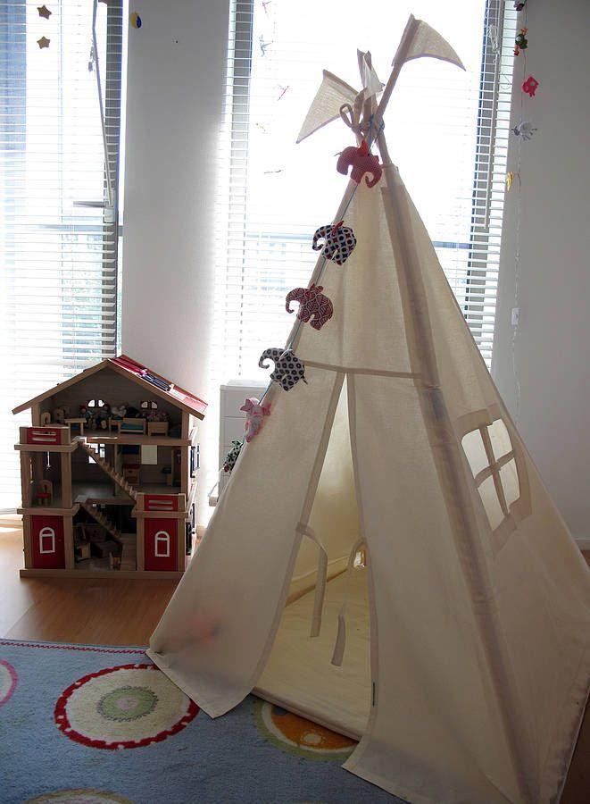 indoor play teepee by moozle | notonthehighstreet.com