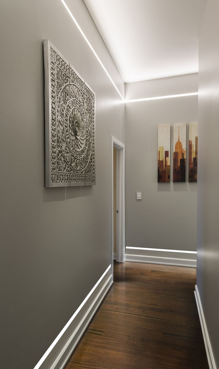 Illuminate A Hallway Without Ceiling Fixtures Or Wall
