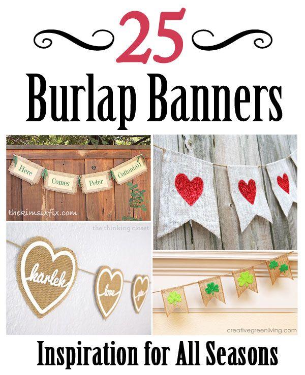 25+ Best Ideas About Burlap Banners On Pinterest
