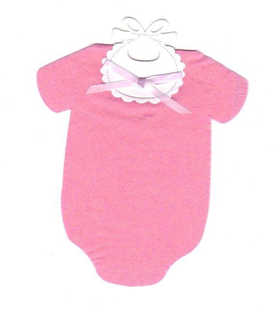 Set of 30 Pink Baby STRETCHIE ROMPER BIB Paper by SuriesBoutique, $15.00
