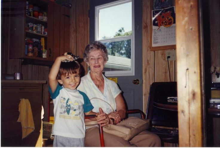My son Andrew and my Mom in 1989