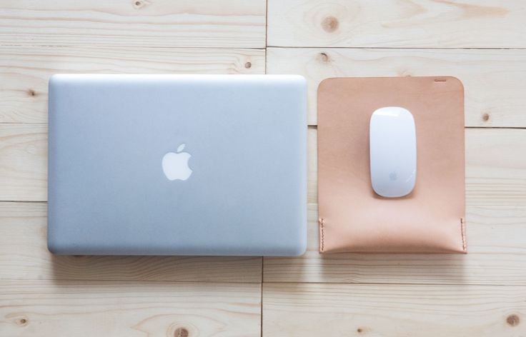Nude leather mouse pad for magic mouse