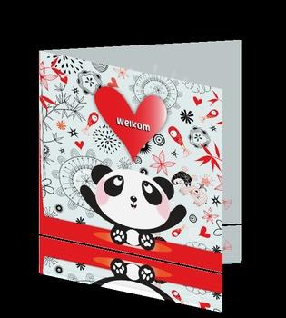 Adoptiekaart panda vissen hartjes