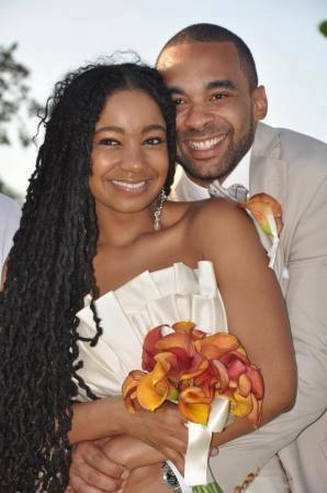 natural hair bride   locs