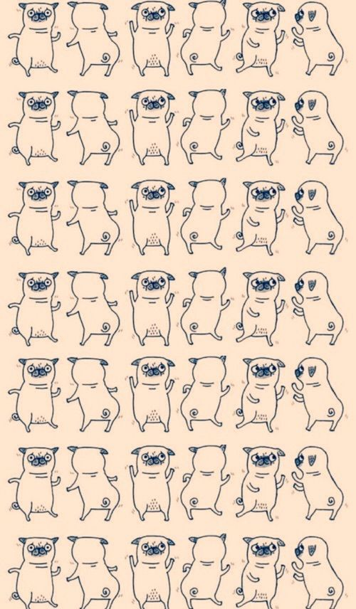 I love pugs #puga ★ Find more Funky Patterns for your #iPhone + #Android @prettywallpaper