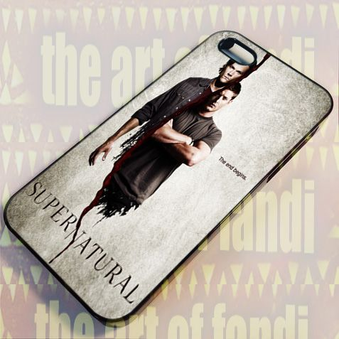 Supernatural The End Begin For iPhone 5/5c/5s Black Rubber Case