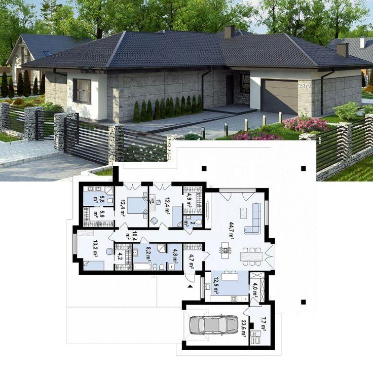 половины проекты одноэтажных домов фото с планом первого