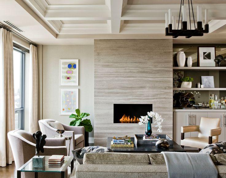 Sala de Estar Contemporánea porción Terrat Elms Diseño Interior