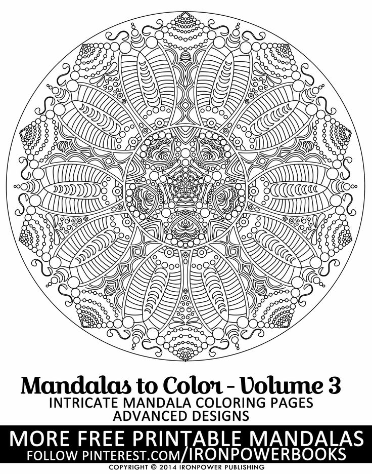 594 Best MANDALAS Coloring Pages Images On Pinterest