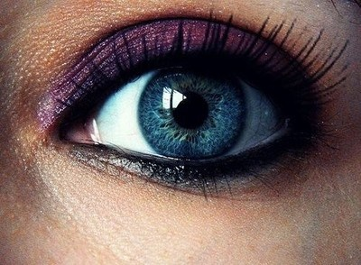 Purple: Make Up, Eye Makeup, Style, Color, Purple Eyeshadow, Blue Eyes, Beauty, Hair