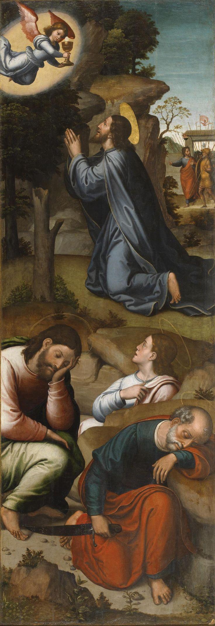La Oración en el Huerto / The Agony in the Garden // Ca. 1535 // Juan Correa de Vivar #JesusChrist #HolyWeek