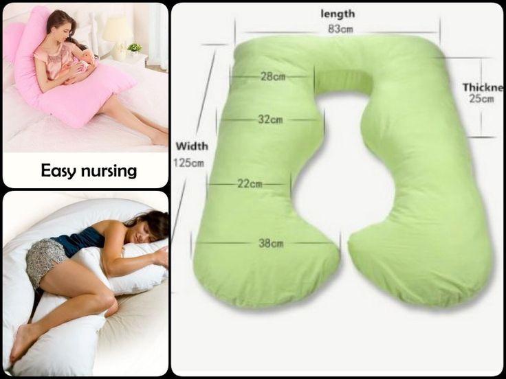 Como fazer sua gravidez própria Back N barriga com contornos travesseiro de corpo