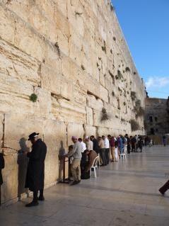 エルサレム旧市街 嘆きの壁は、ユダヤ人は「西の壁」と呼んでいる