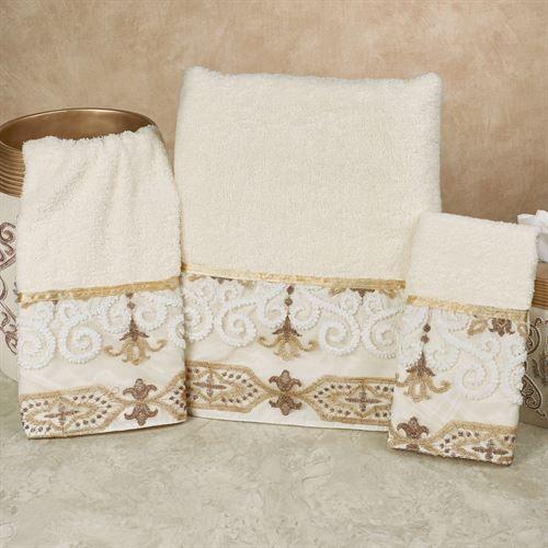 Savoy Bath Towel Set Light Cream Bath Hand Wash