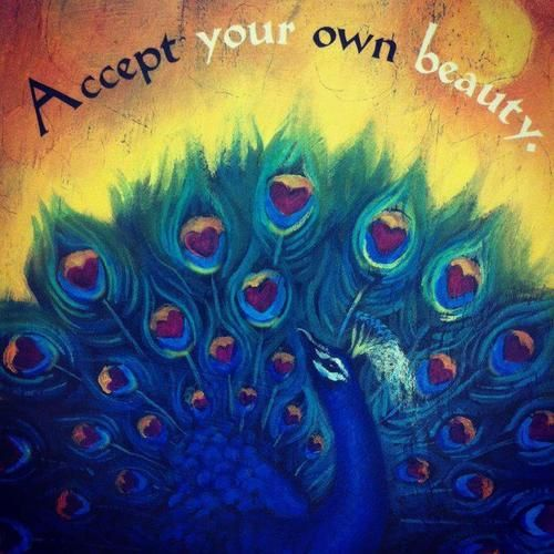 Peacock Art...Peacock Quote...By Artist Unknown...