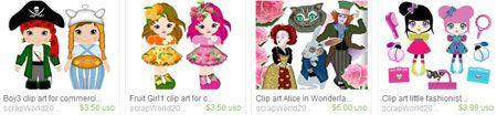 Дизайнерские картинки на etsy.com