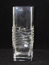 "Vintage Iittala Glass Vase-Finland-8""-Excellent-Marked-Tapio Wirkaala"