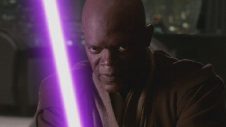 Really? I thought it was just because if were you to be a black man then a purple lightsaber will do you more justice in the cool side.