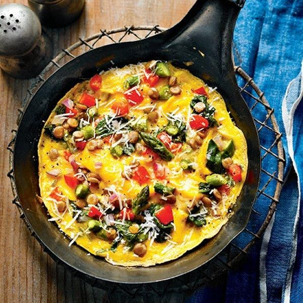 Lentils omelette