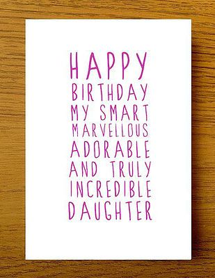 Sweet Description Happy Birthday Daughter Card
