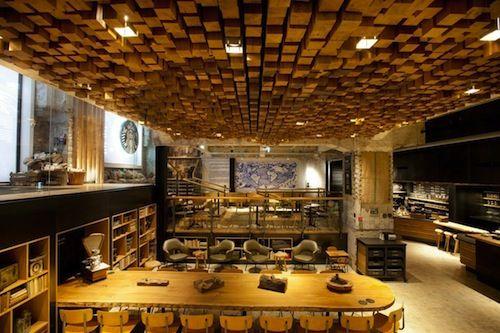 Starbucks Amsterdam concept cafe - amazing colours/warmth