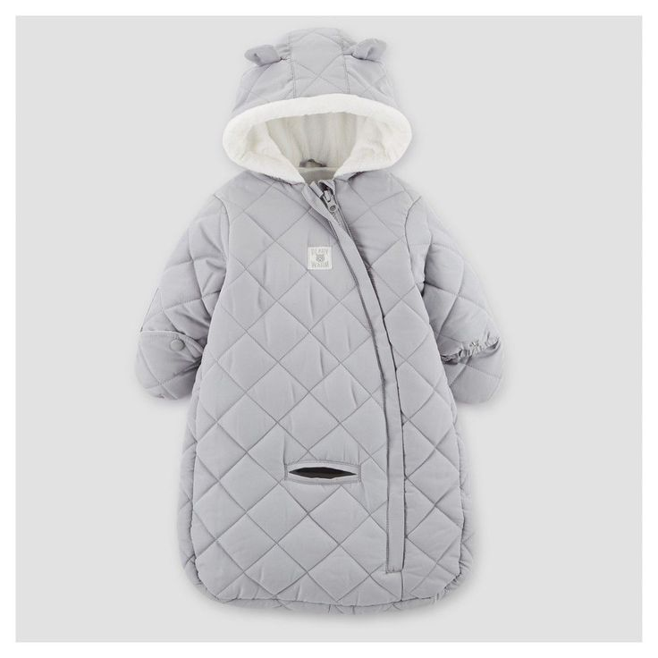 Baby Boys' Snowsuit - Just One You Made by Carter's Gray One Size https://presentbaby.com