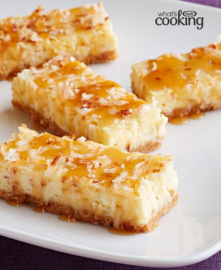 32 best caramel dessert recipes images on pinterest desert coconut cheesecake squares with caramel topping recipe desserts caramelmini dessertskraft recipesbar recipesdessert forumfinder Image collections
