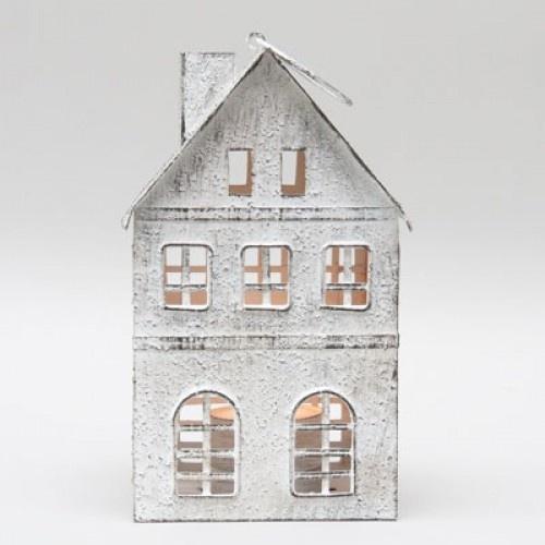 Metalen huis white (voor waxine)