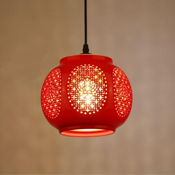 89.00$  Watch now - http://alikg0.shopchina.info/1/go.php?t=32813872116 - Ceramic glass red Pendant Lights lanterns for balcony aisle entrance hall aisle lamp wedding home decoration festive lights ZAG  #aliexpress